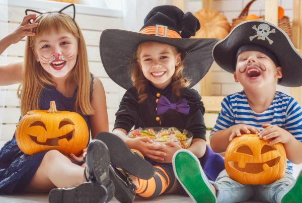 niños disfrazados halloween