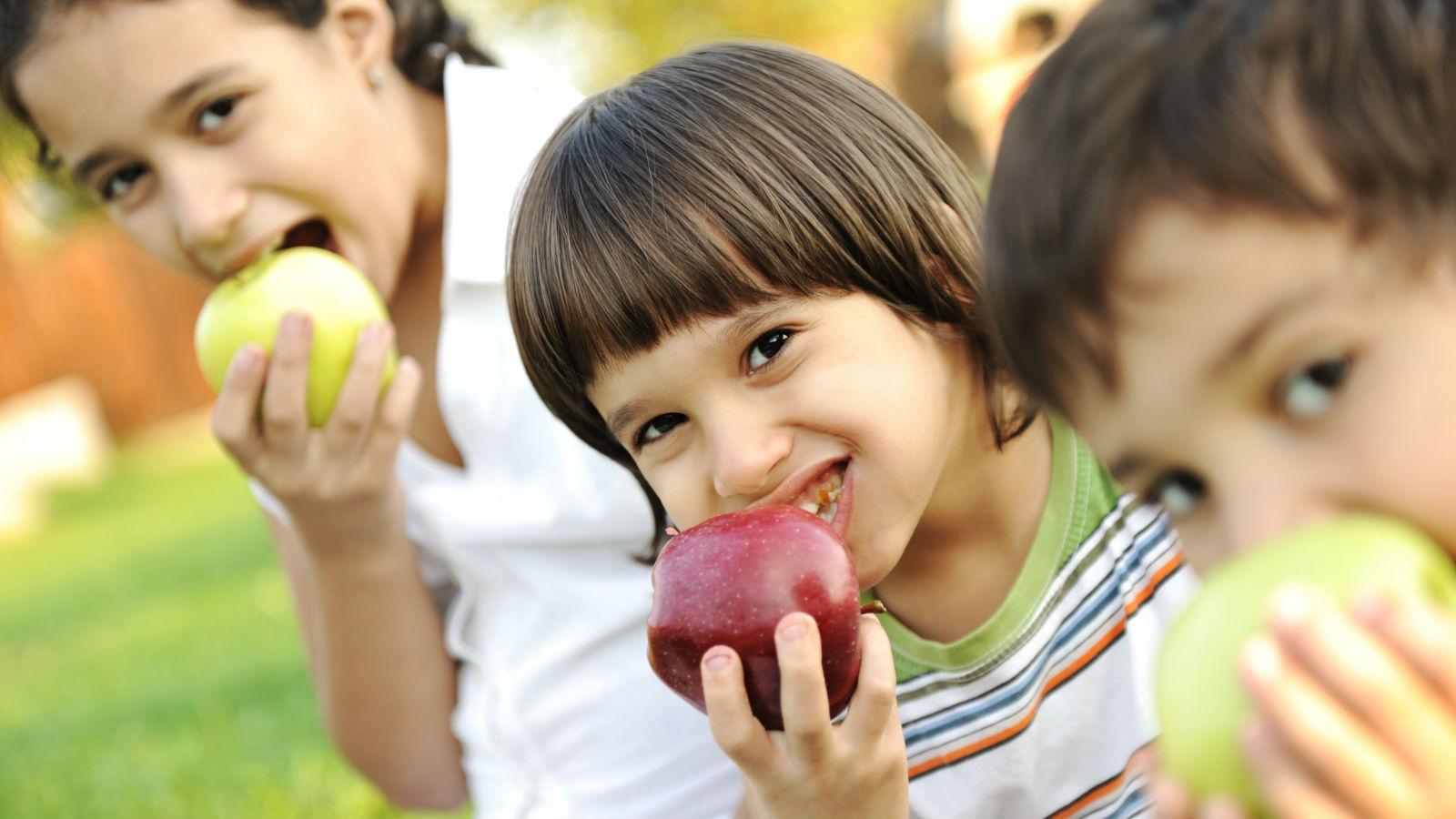 Tentempiés o <em>snacks</em> saludables para los niños